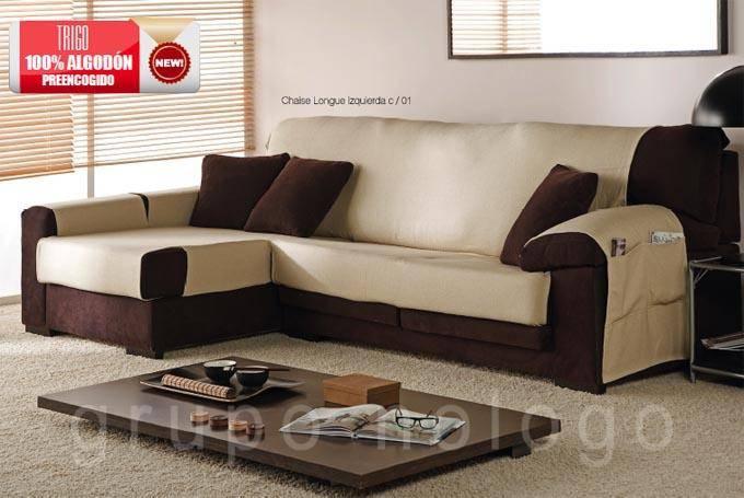 Funda de sofa chaise longue trigo comprar funda de sofa chaise lon - Donde comprar fundas de sofa ...