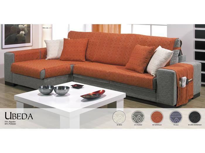 Funda de sof chaise longue beda comprar funda de sof for Medidas sofa cheslong