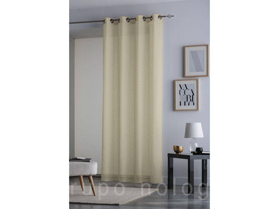 Cortina visillo con ollaos blondi comprar cortina visillo for Ollaos para cortinas