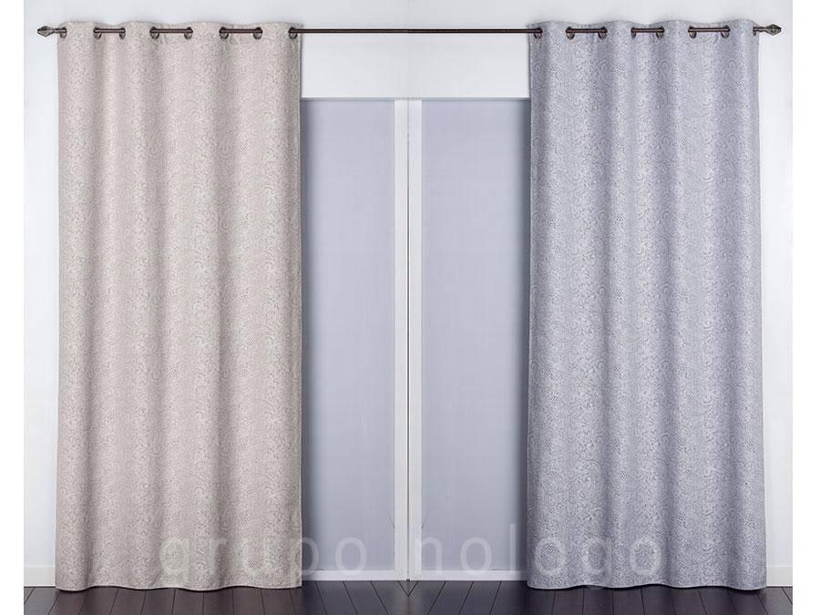 Tienda de cortinas online cortinas visillo con ollaos - Cortinas con ollaos ...