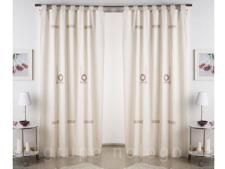 Cortina confeccionada creta comprar cortina confeccionada - Hacer cortinas con trabillas ...