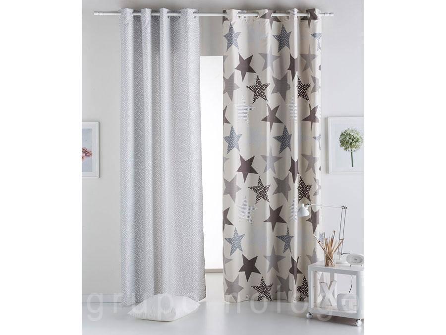 Cortina juvenil estrellas comprar cortina juvenil estrellas - Cortinas con trabillas ...