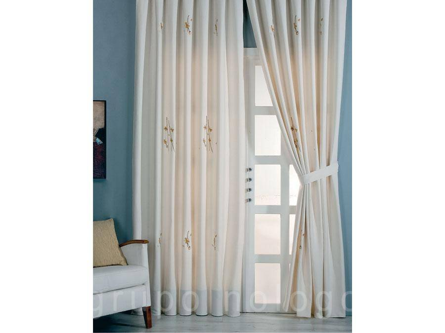 Cortinas bordada Paris
