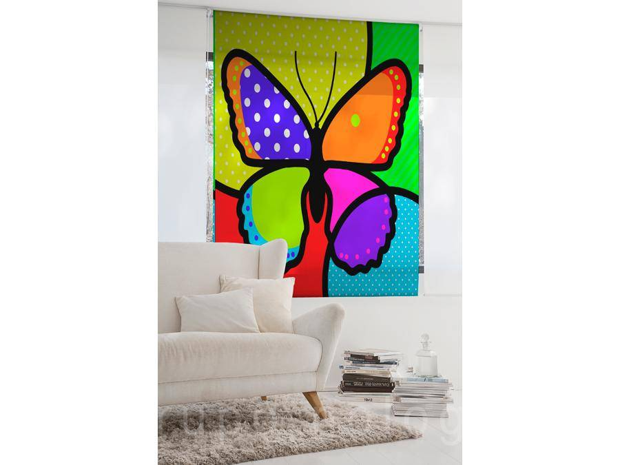 Estor enrollable Coloured Butterfly