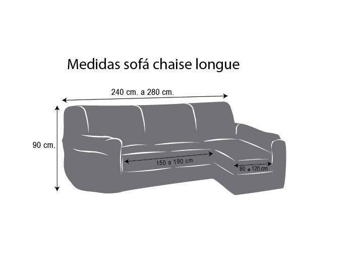 Funda chaise longue ajustable viena comprar funda chaise - Medidas sofa 3 plazas ...